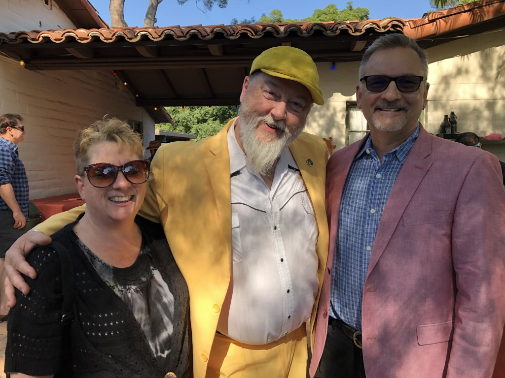 My wife Valorie, Kevin Russell of Shinyribs, and me